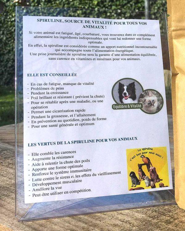 description-bienfaits-spiruline-pour-animaux-de-la-belle-spiruline-de-julie